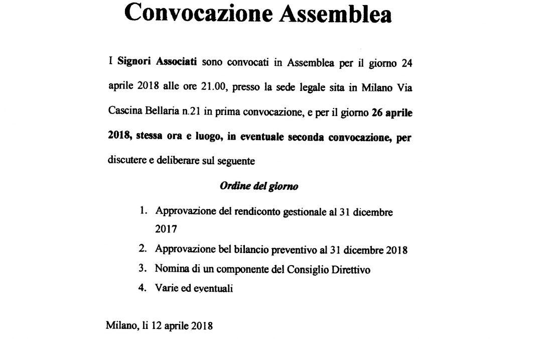 Assemblea degli Associati  Aprile 2018